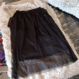 Black Who what wear  mesh tiered skirt